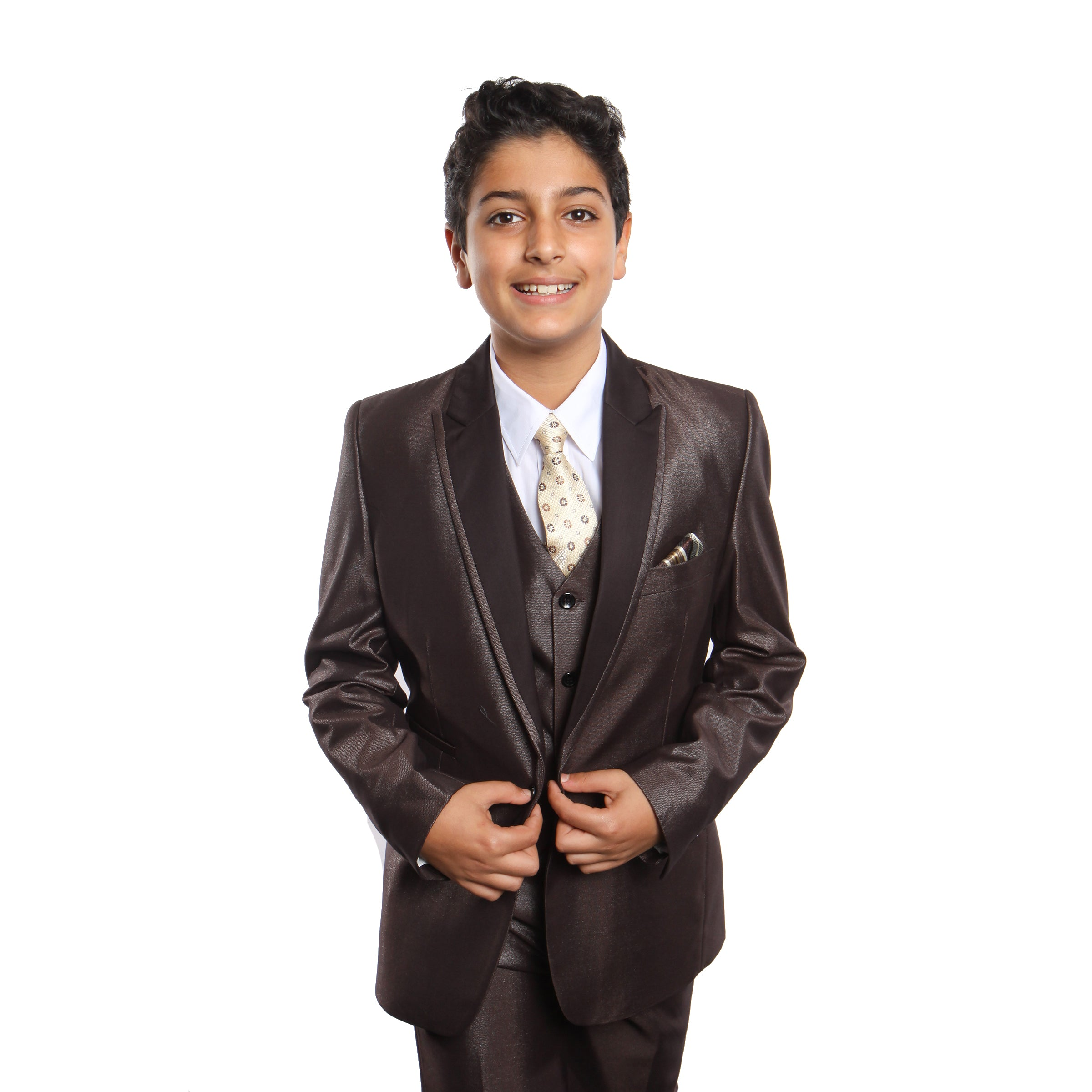 Tazio Brown Formal Suits For Boys