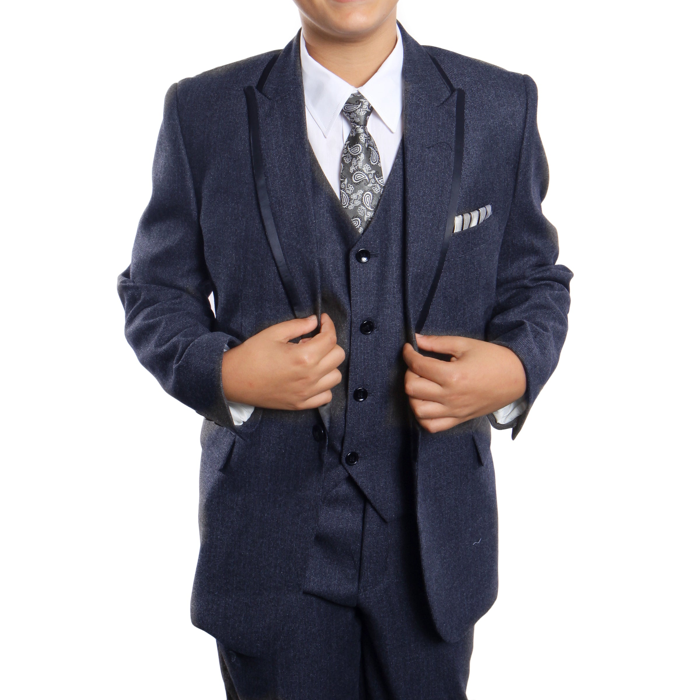 Tazio Blue Formal Suits For Boys