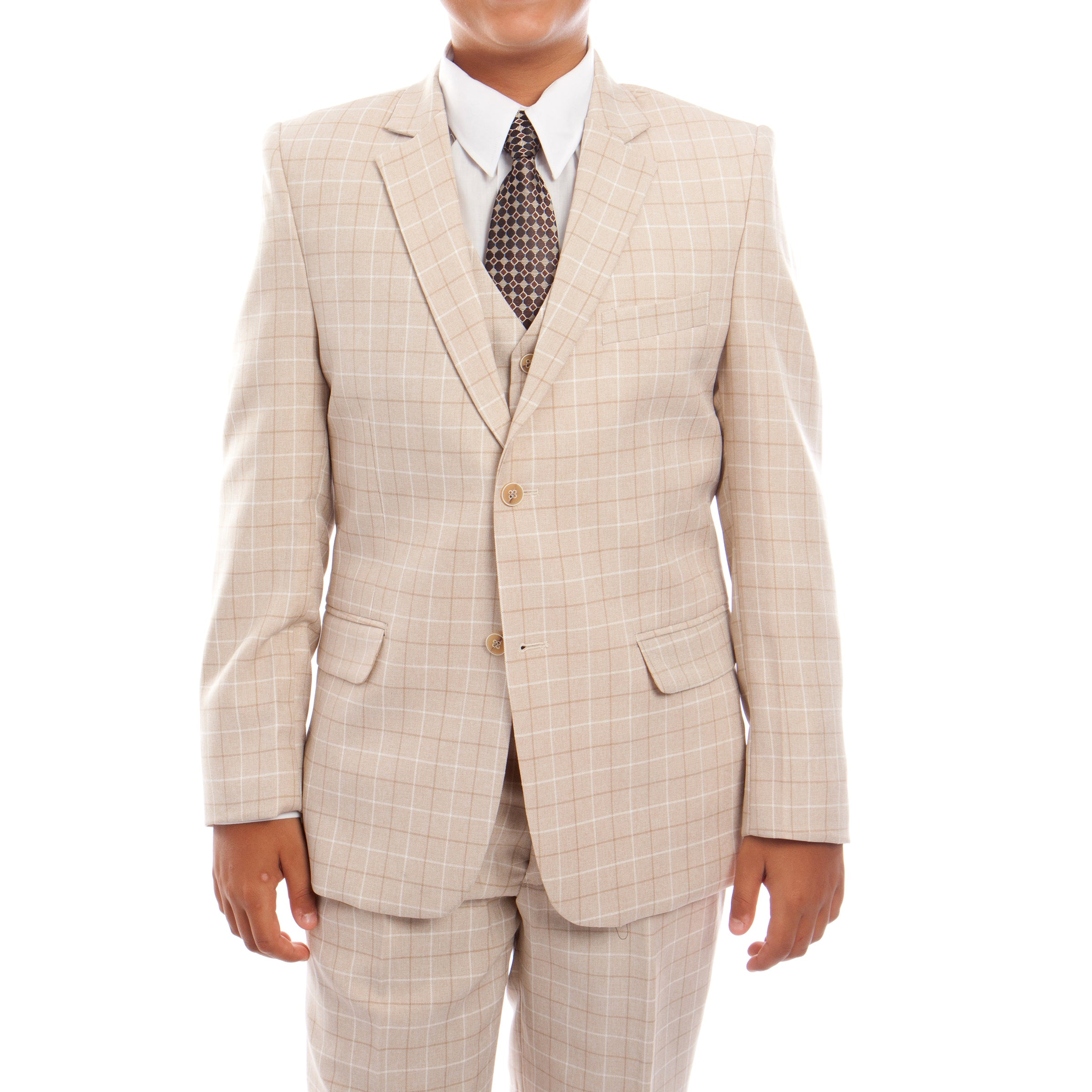 Tazio Beige Formal Suits For Boys