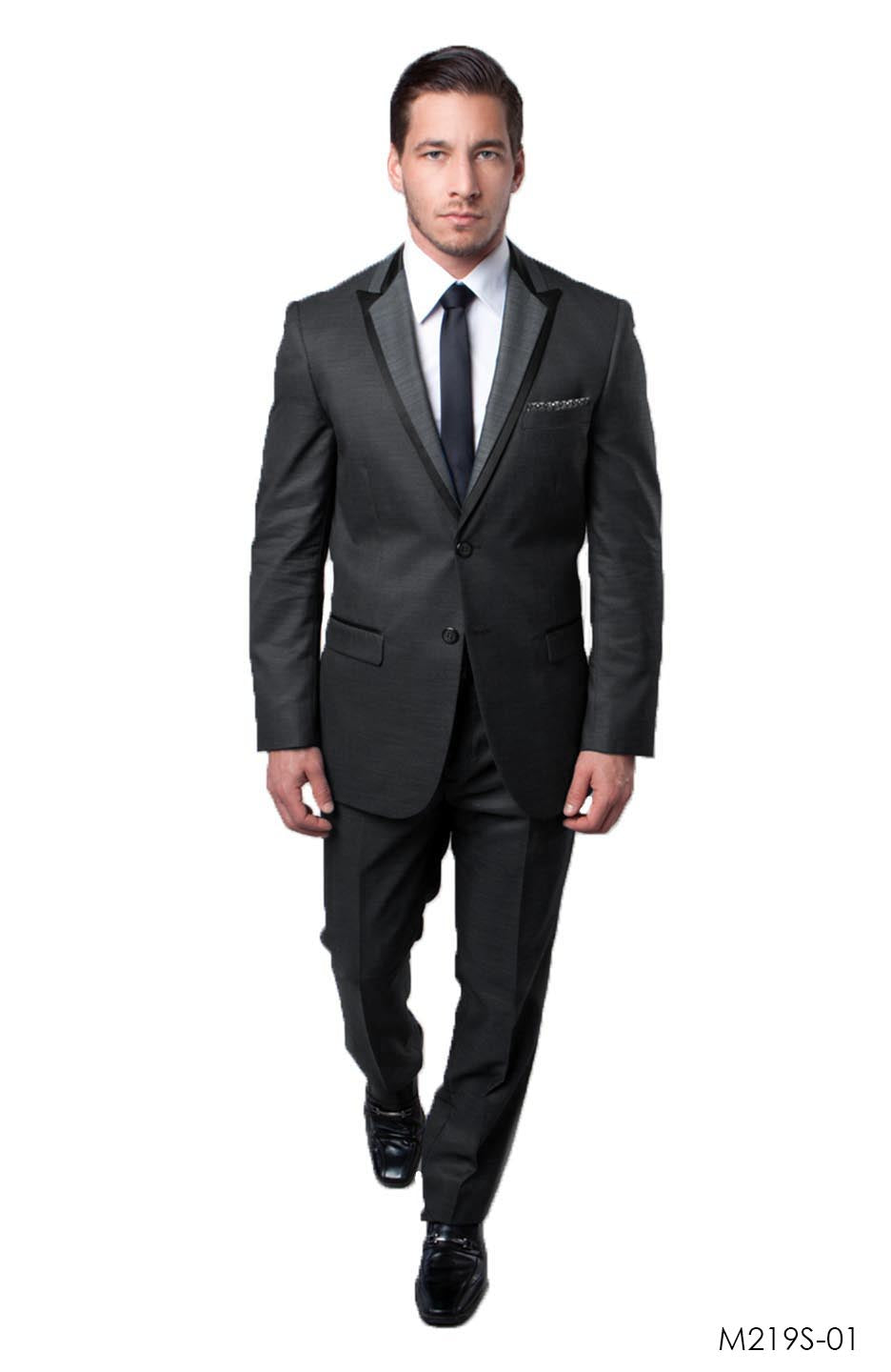 Charcoal / Black Suit For Men Formal Suits For All Ocassions M219S-01