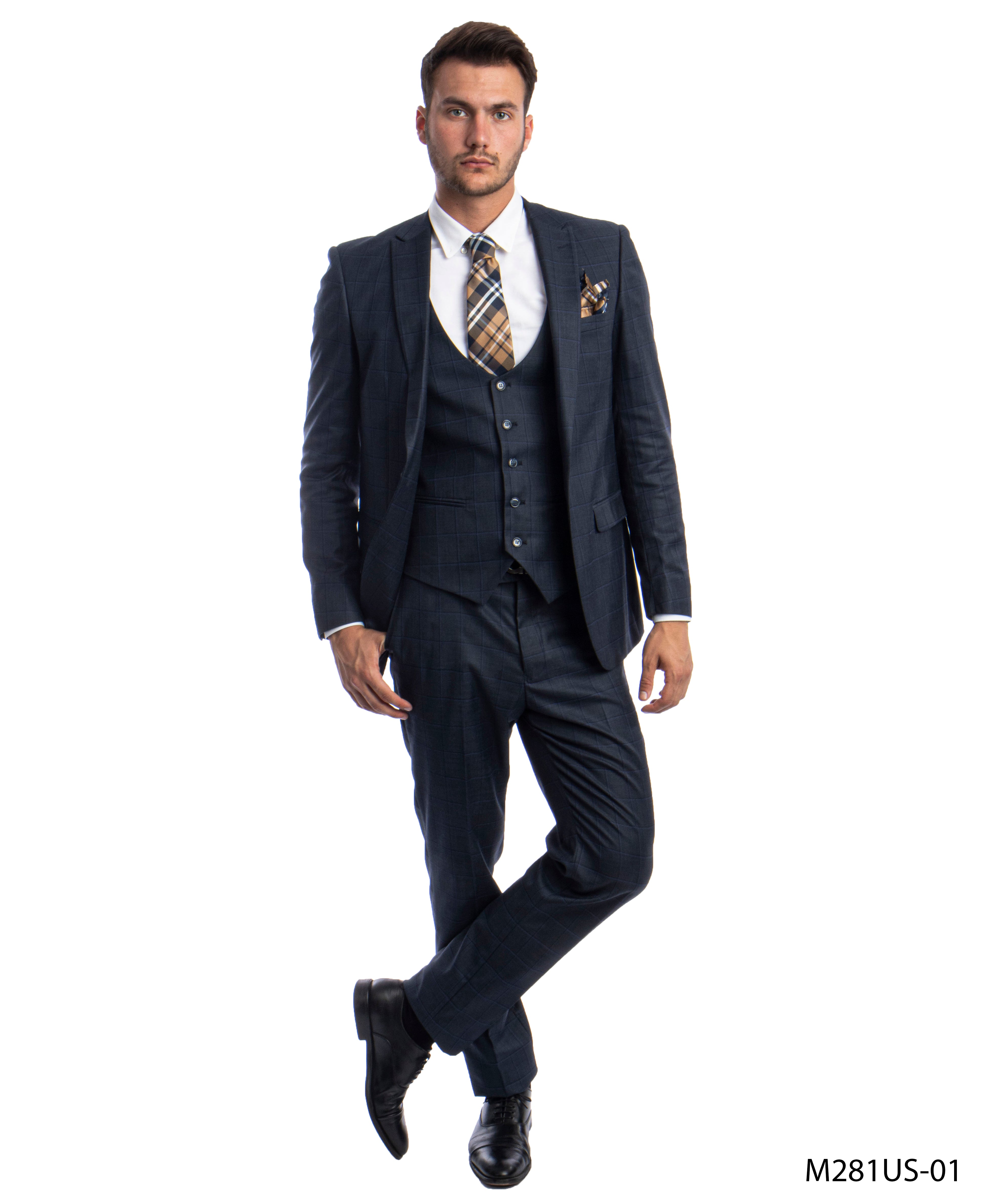 Navy/Blue Suit For Men Formal Suits For All Ocassions