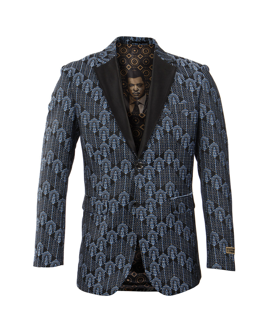 Blue/Black Empire Show Blazers Formal Dinner Suit Jackets For Men ME225-01