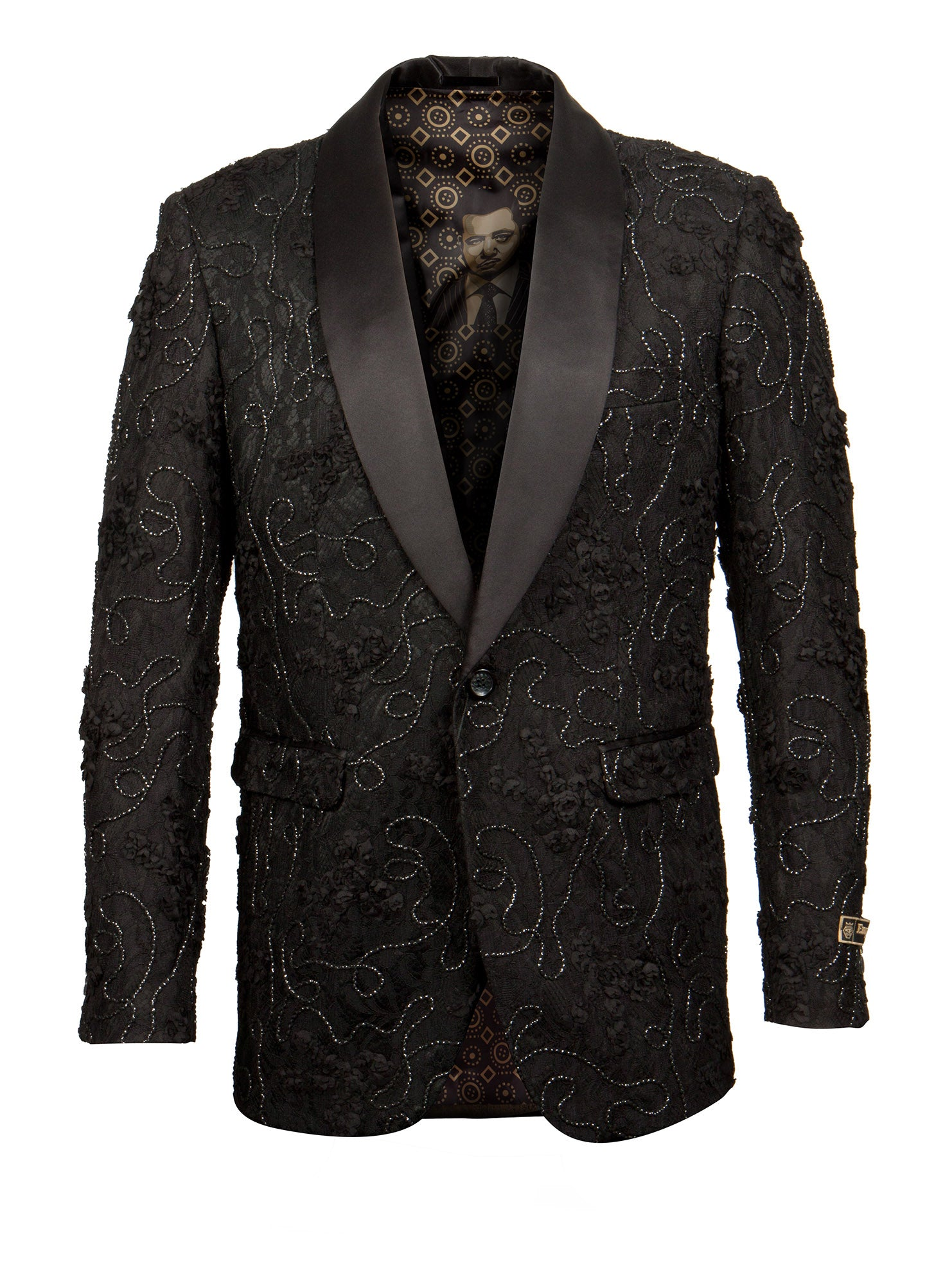 Black Empire Show Blazers Formal Dinner Suit Jackets For Men ME257H-01