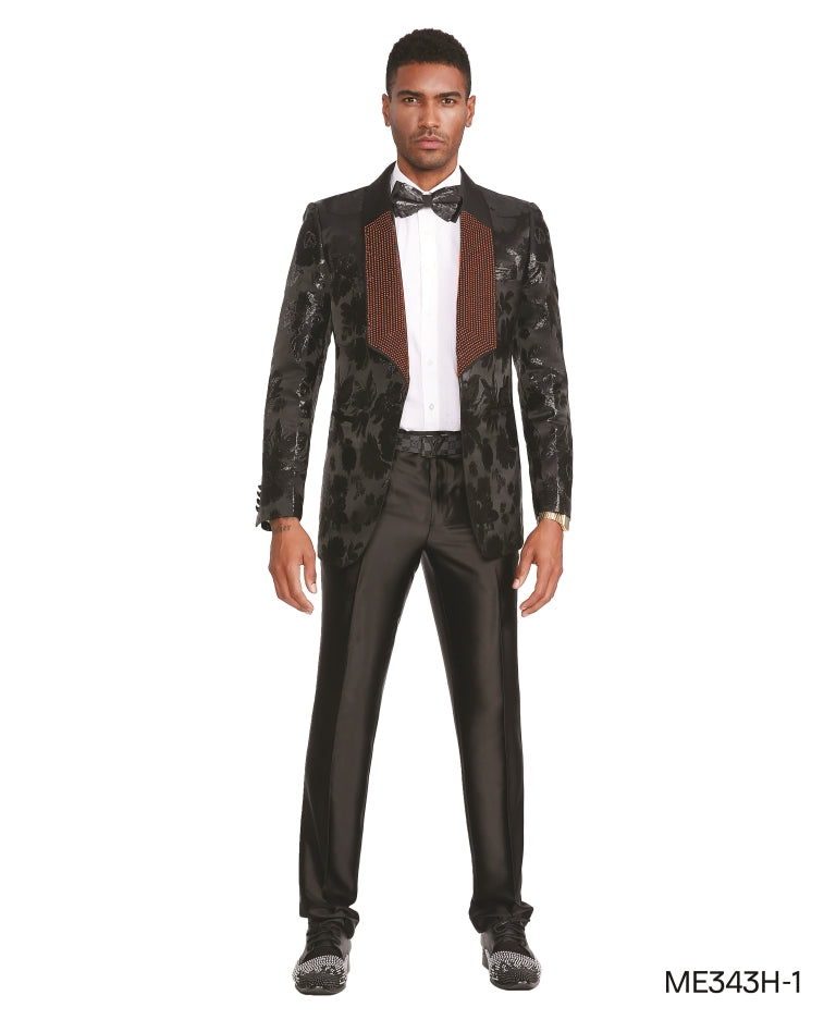 Black Empire Show Blazers Formal Dinner Suit Jackets For Men ME343H-01