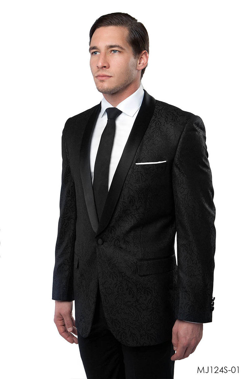 Black Jackets For Men Jacket Suits For All Ocassions MJ124S-01