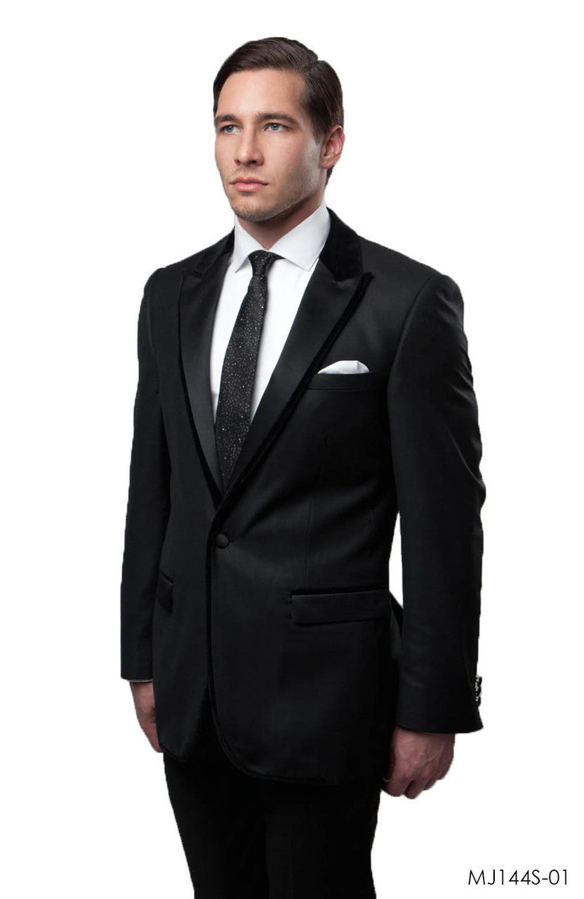 Black Jackets For Men Jacket Suits For All Ocassions MJ144S-01