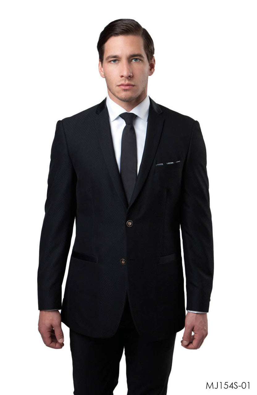 Black Jackets For Men Jacket Suits For All Ocassions MJ154S-01