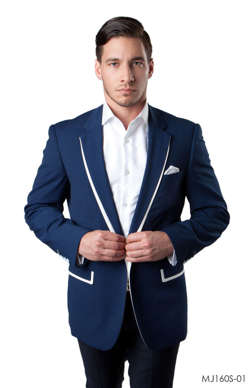 Dark Blue Jackets For Men Jacket Suits For All Ocassions MJ160S-01