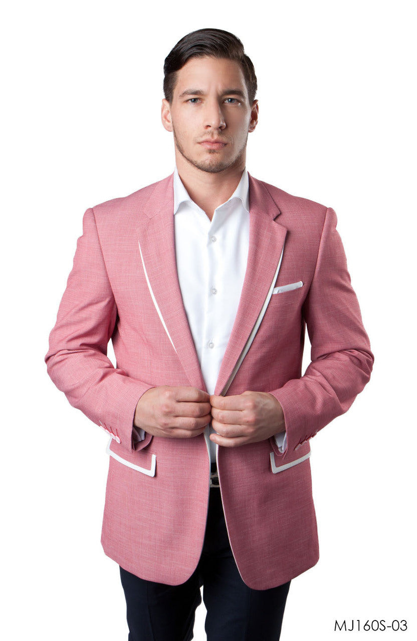 Salmon Jackets For Men Jacket Suits For All Ocassions MJ160S-03