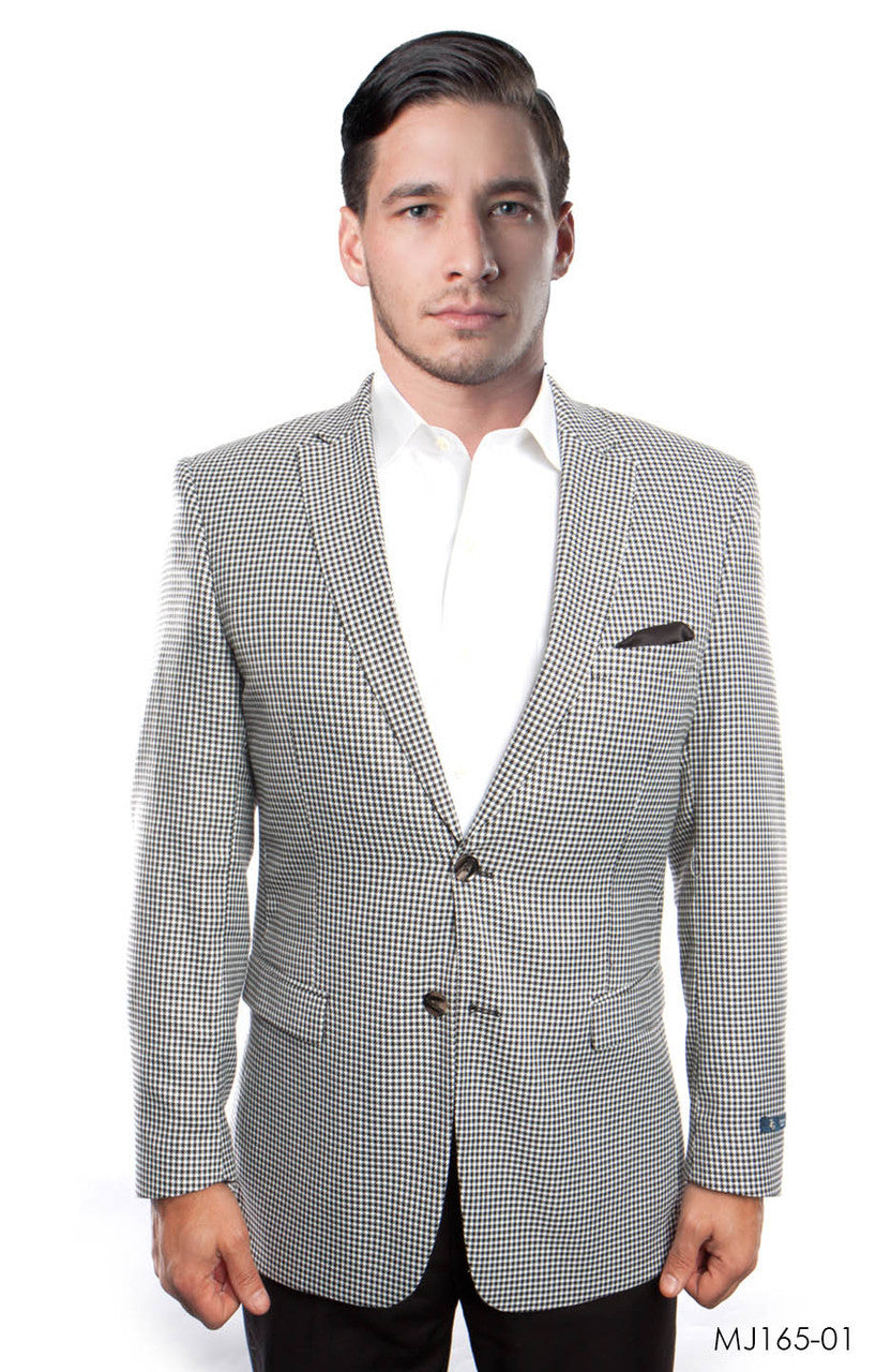 Black / White Jackets For Men Jacket Suits For All Ocassions MJ165-01
