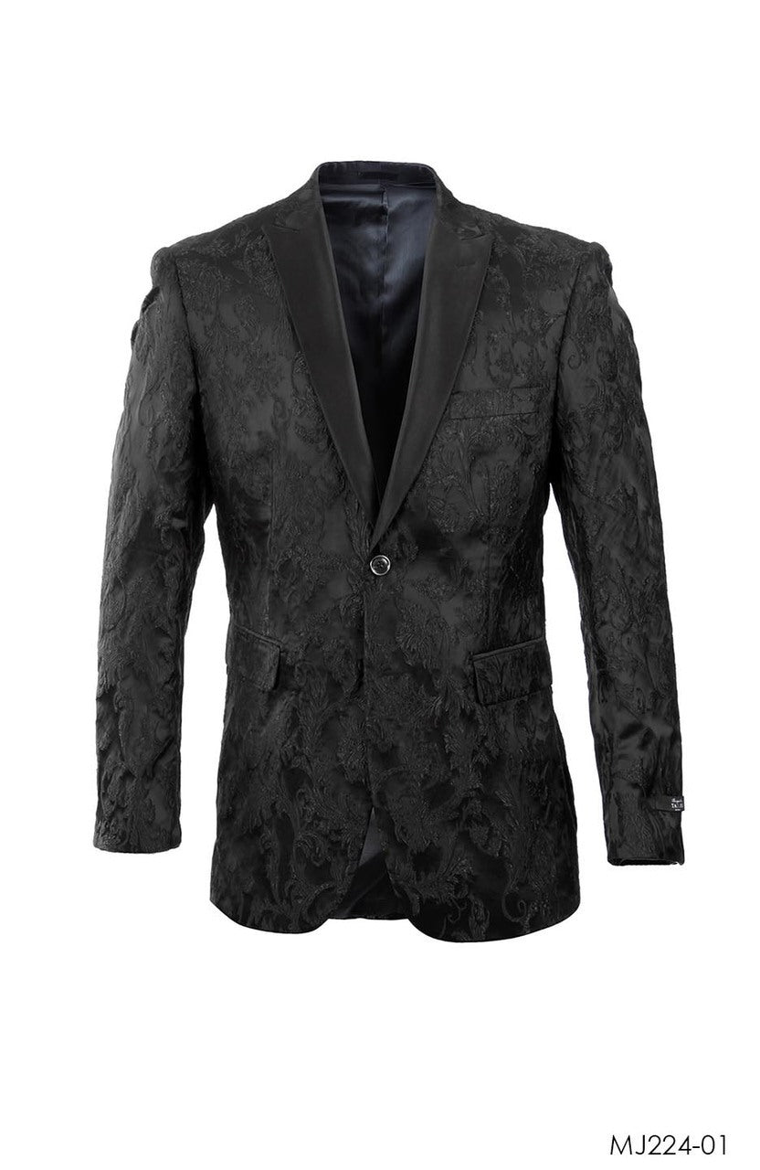 Matte / Black / Floral Tazio Sports Coat Dinner Jackets