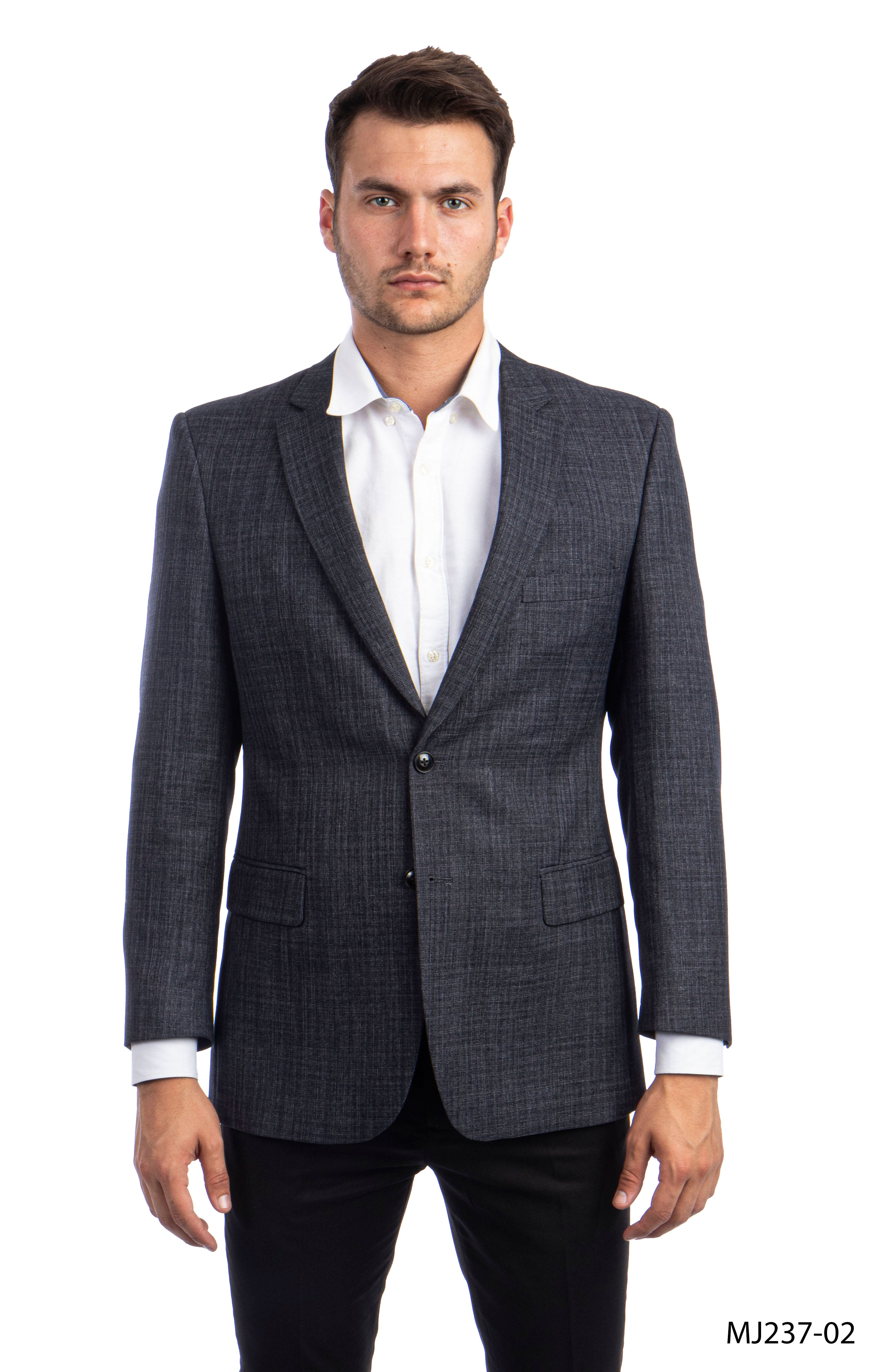 Black Charcoal Tazio Sports Coat Dinner Jackets