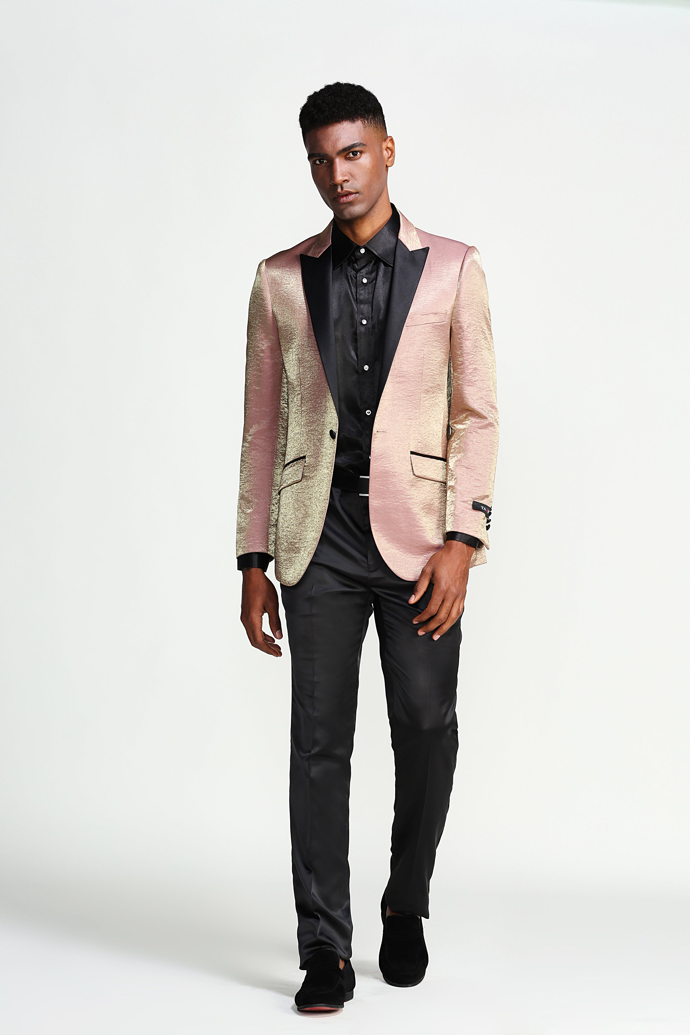 Gold Pink Camouflage Tazio Sports Coat Dinner Jackets