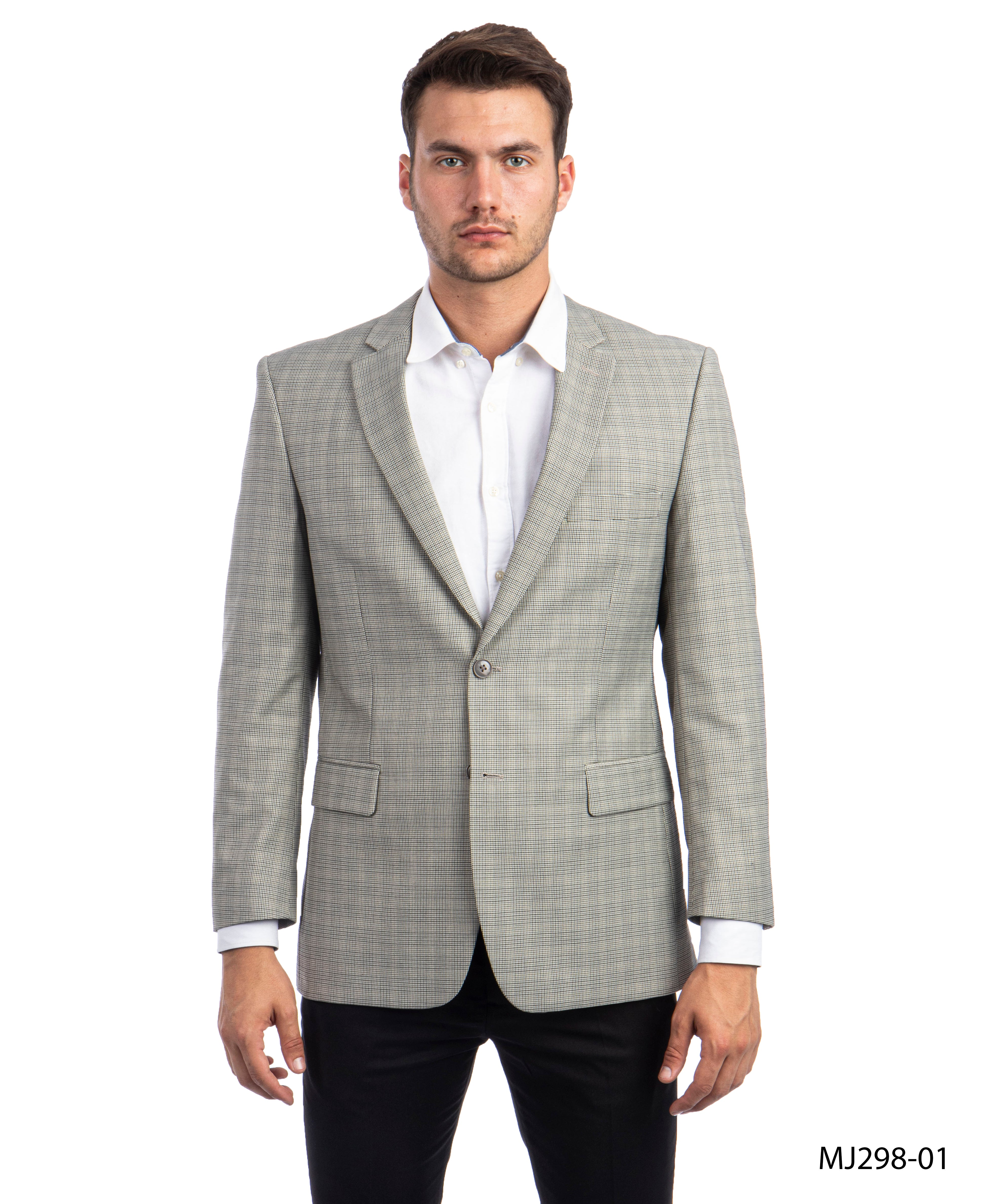 Black / Tan Tazio Sports Coat Dinner Jackets