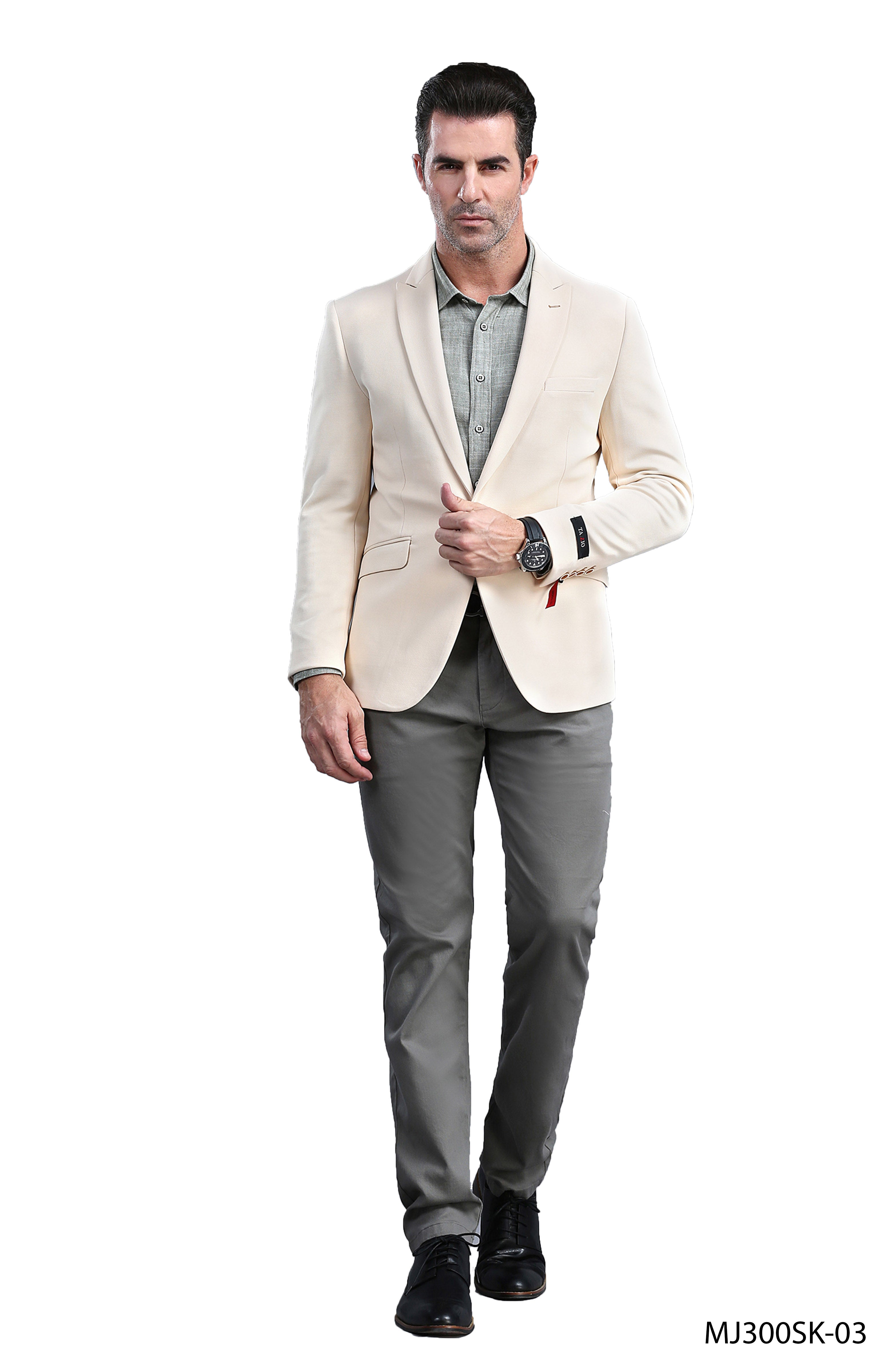 Champagne Tazio Sports Coat Dinner Jackets