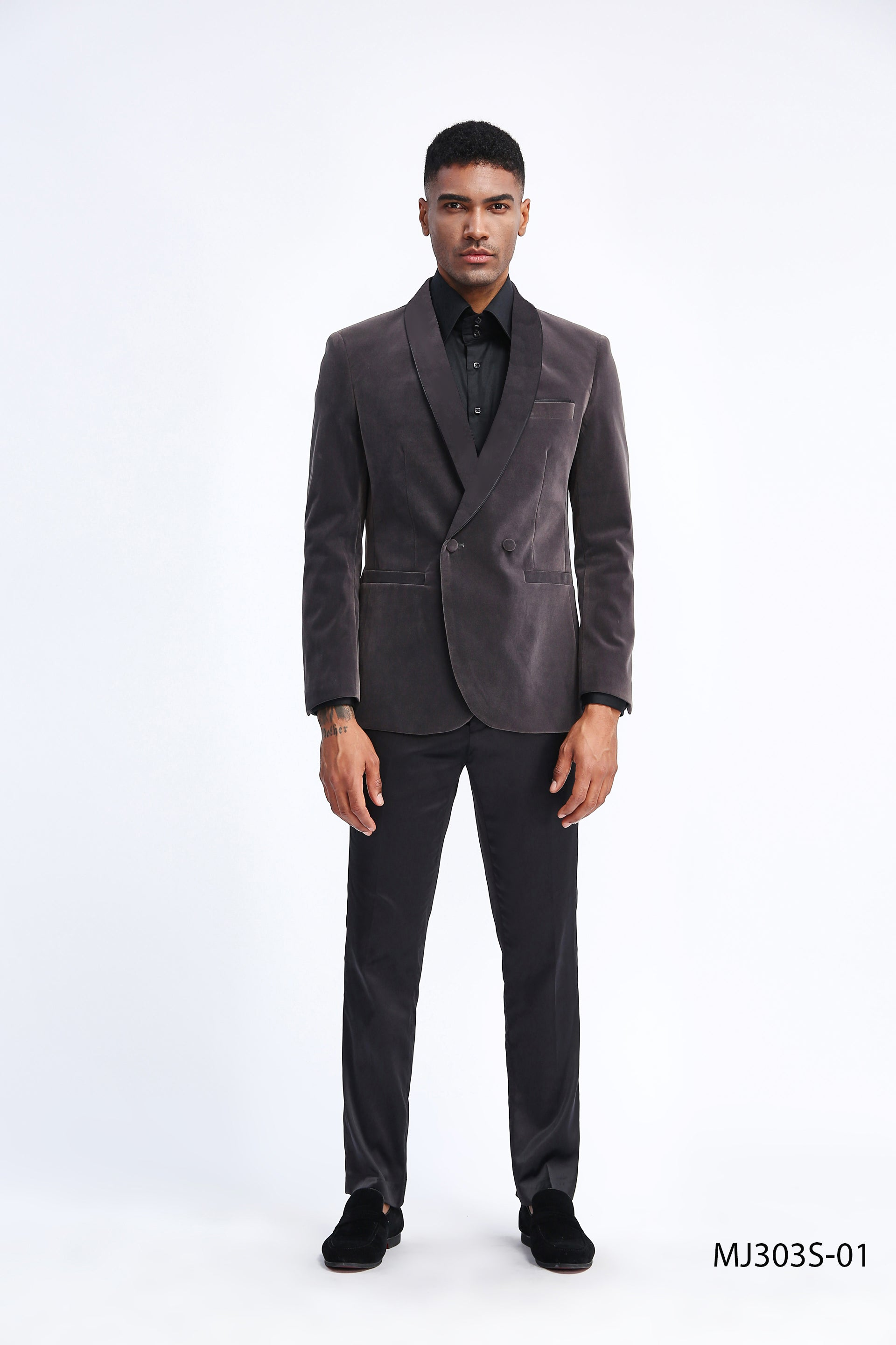 Grey Tazio Sports Coat Dinner Jackets