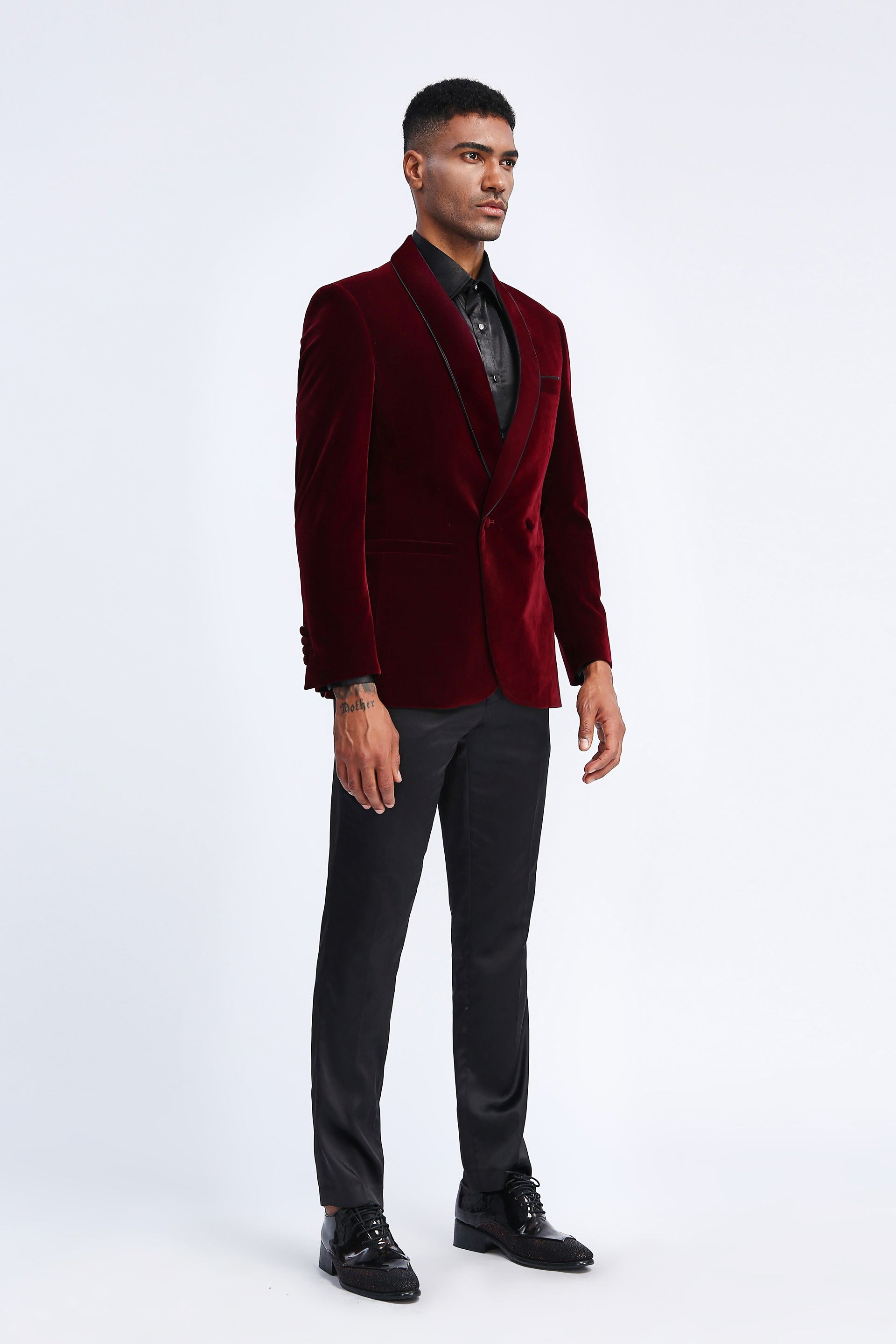 Burgundy Tazio Sports Coat Dinner Jackets