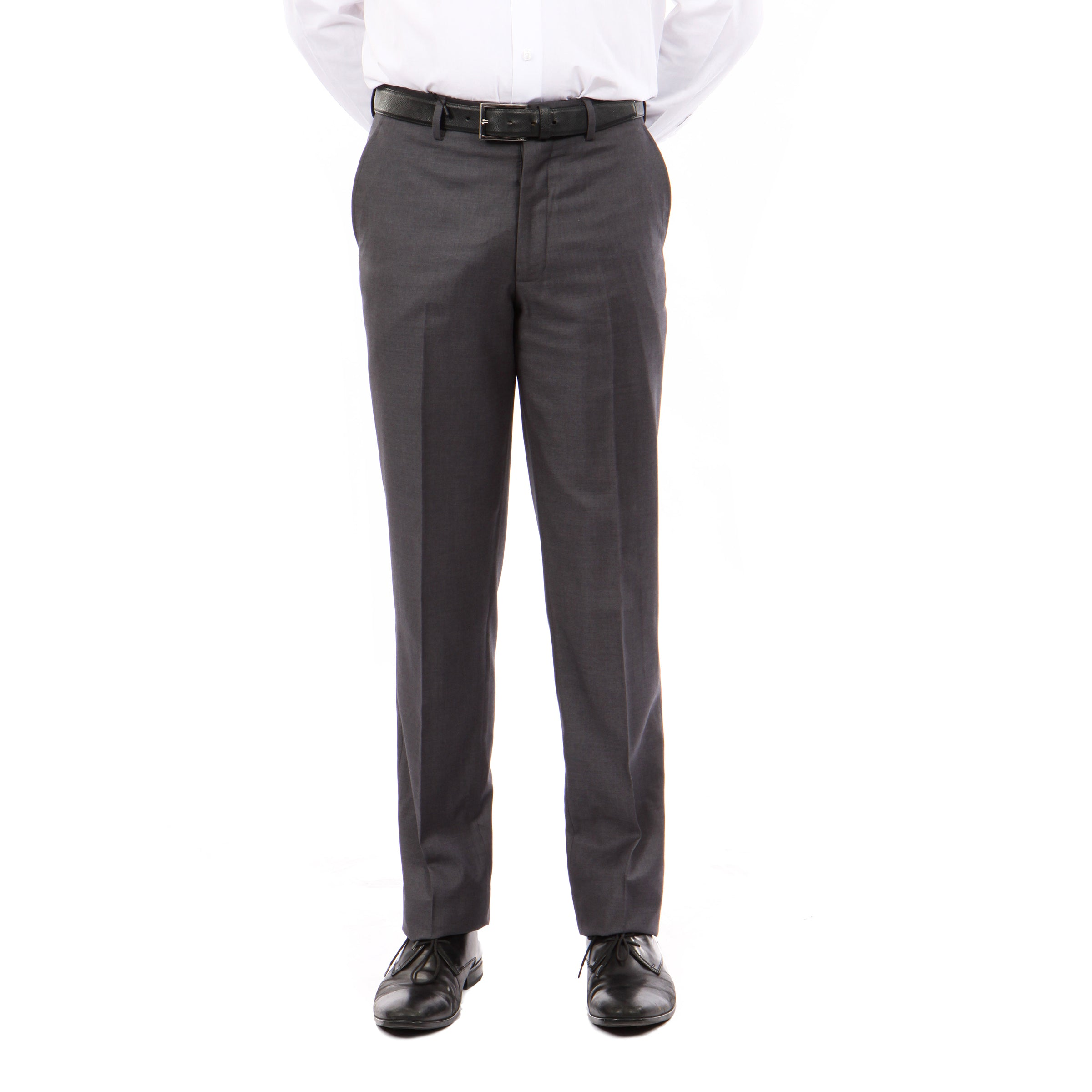Tazio DK Grey Slim Fit Stretch Dress Pants For Men