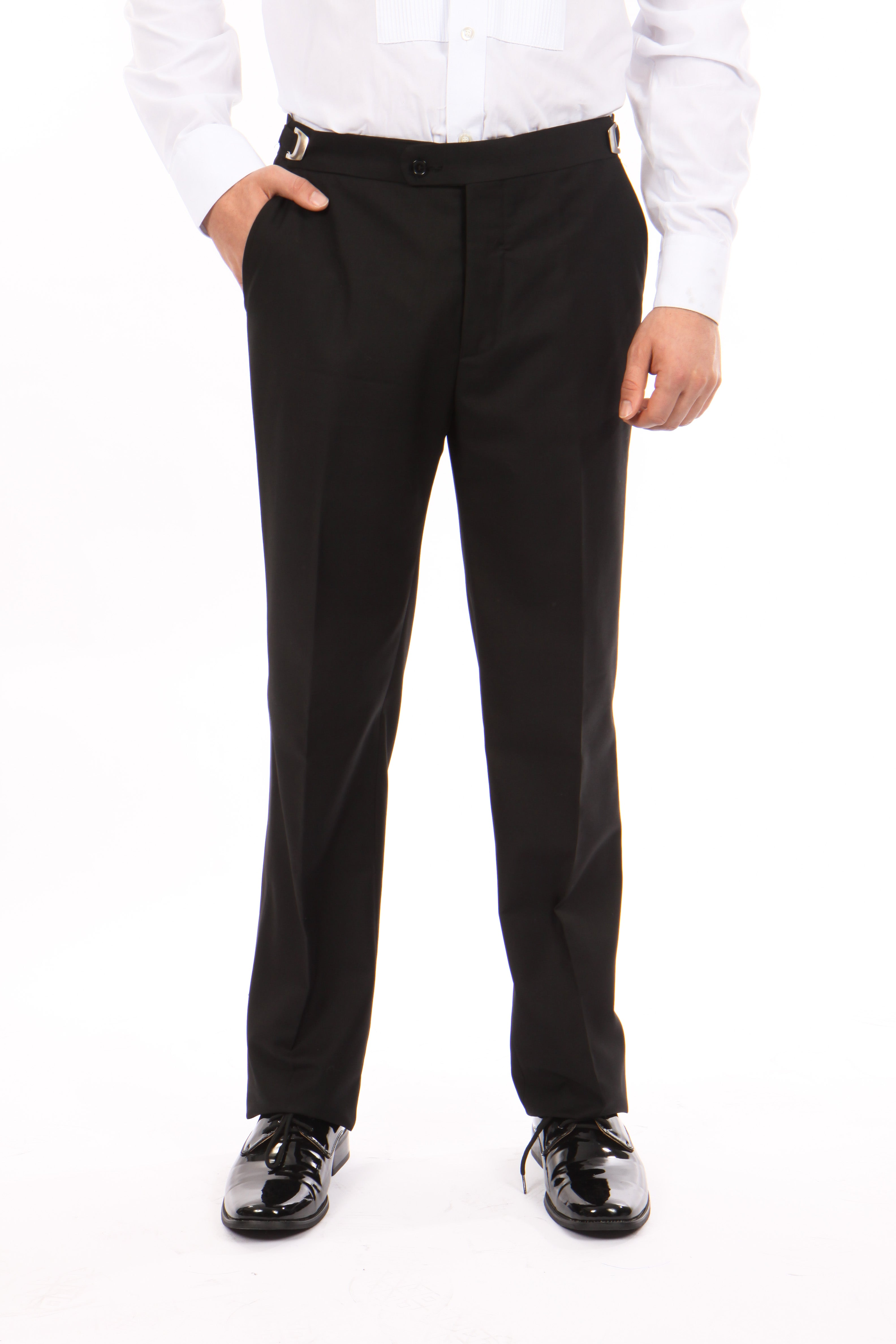 Bryan Michaels Black Tuxedo Dress Pants For Men