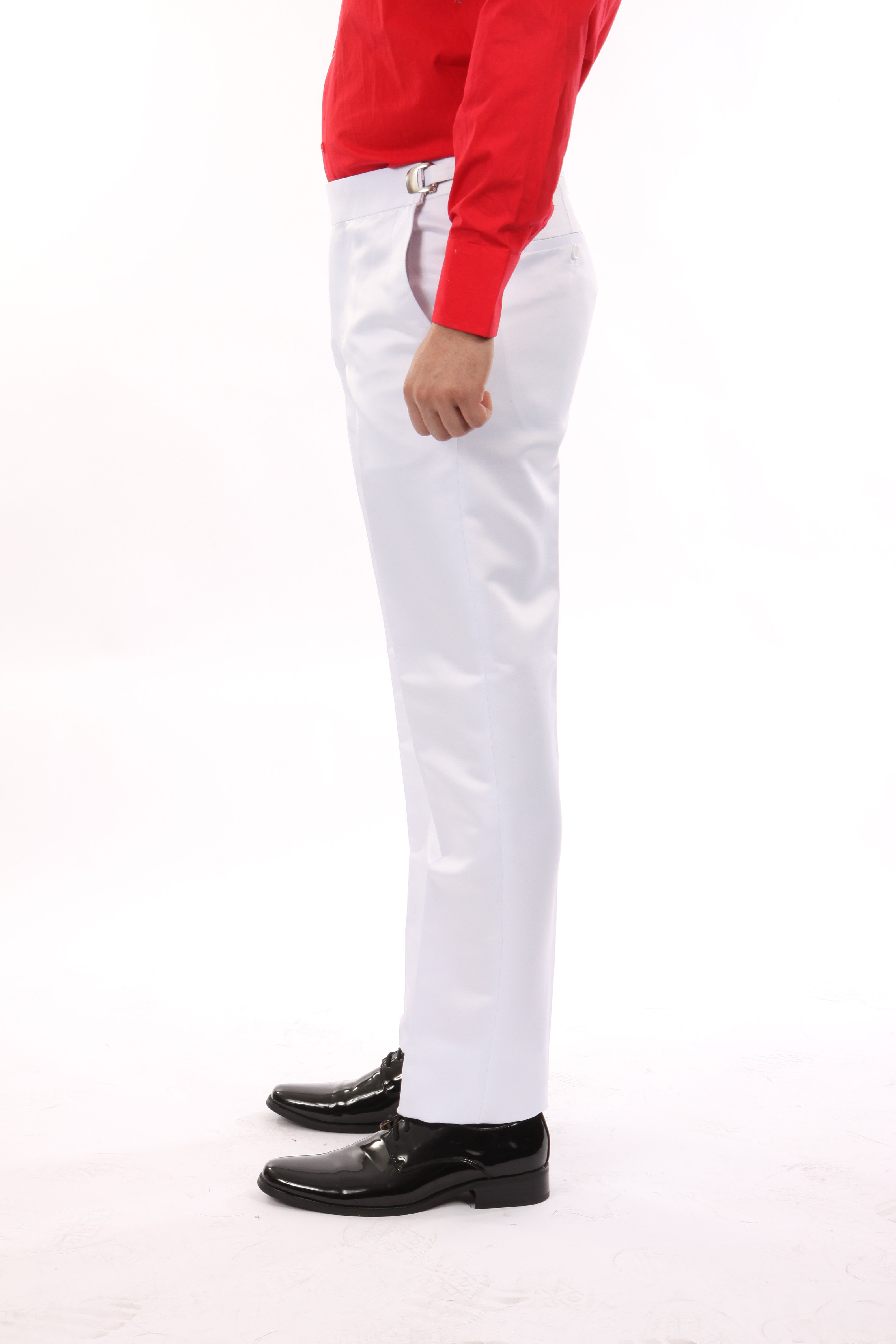 Bryan Michaels White Tuxedo Dress Pants For Men