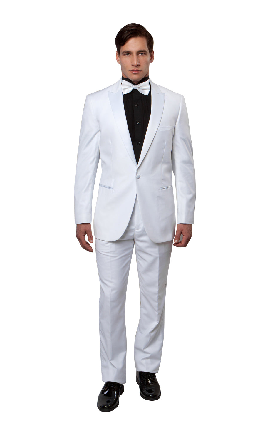 Peak Lapel Tuxedo Solid Slim Fit Prom Tuxedos For Men