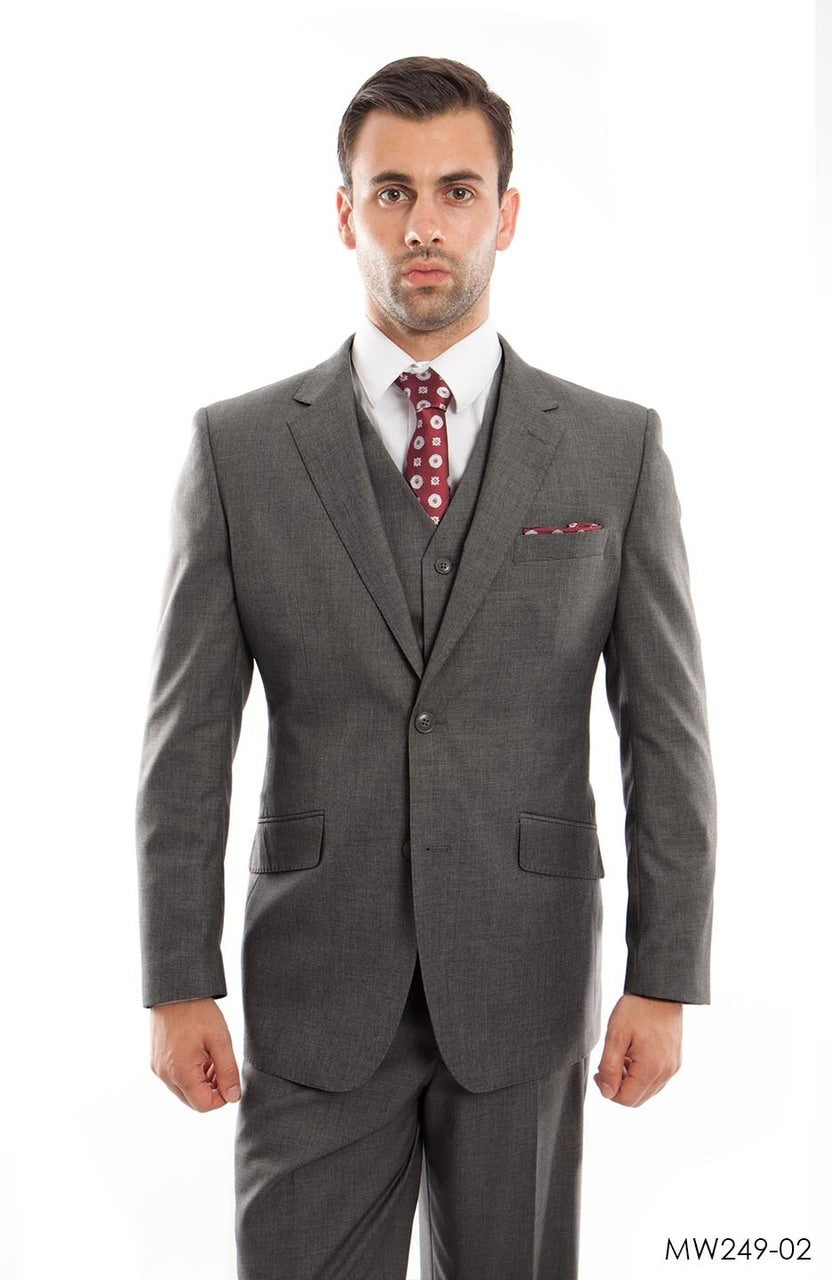 Dk.Gray Wool Blend Suit For Men Formal Suit Jackets For All Ocassions MW249-02
