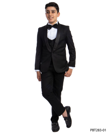 Perry Ellis Boys Tuxedo  Black  Shawl Collar Tuxedos For Boys