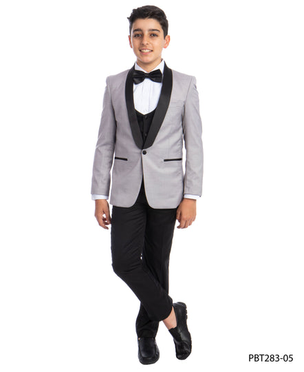 Perry Ellis Boys Tuxedo  Light Grey  Shawl Collar Tuxedos For Boys