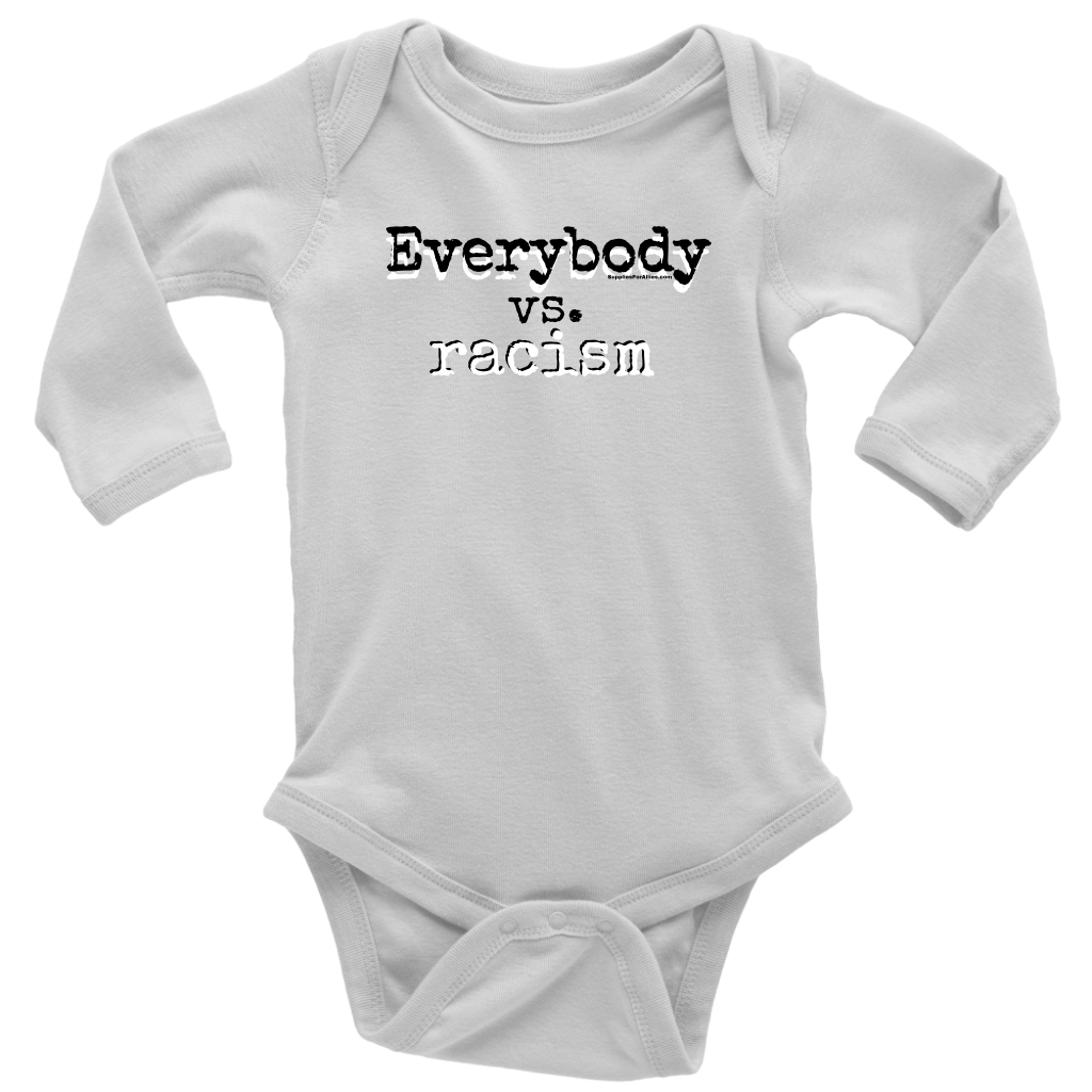 Everybody vs. Racism long sleeve baby suit