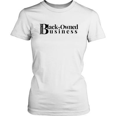 Black owned business white tee