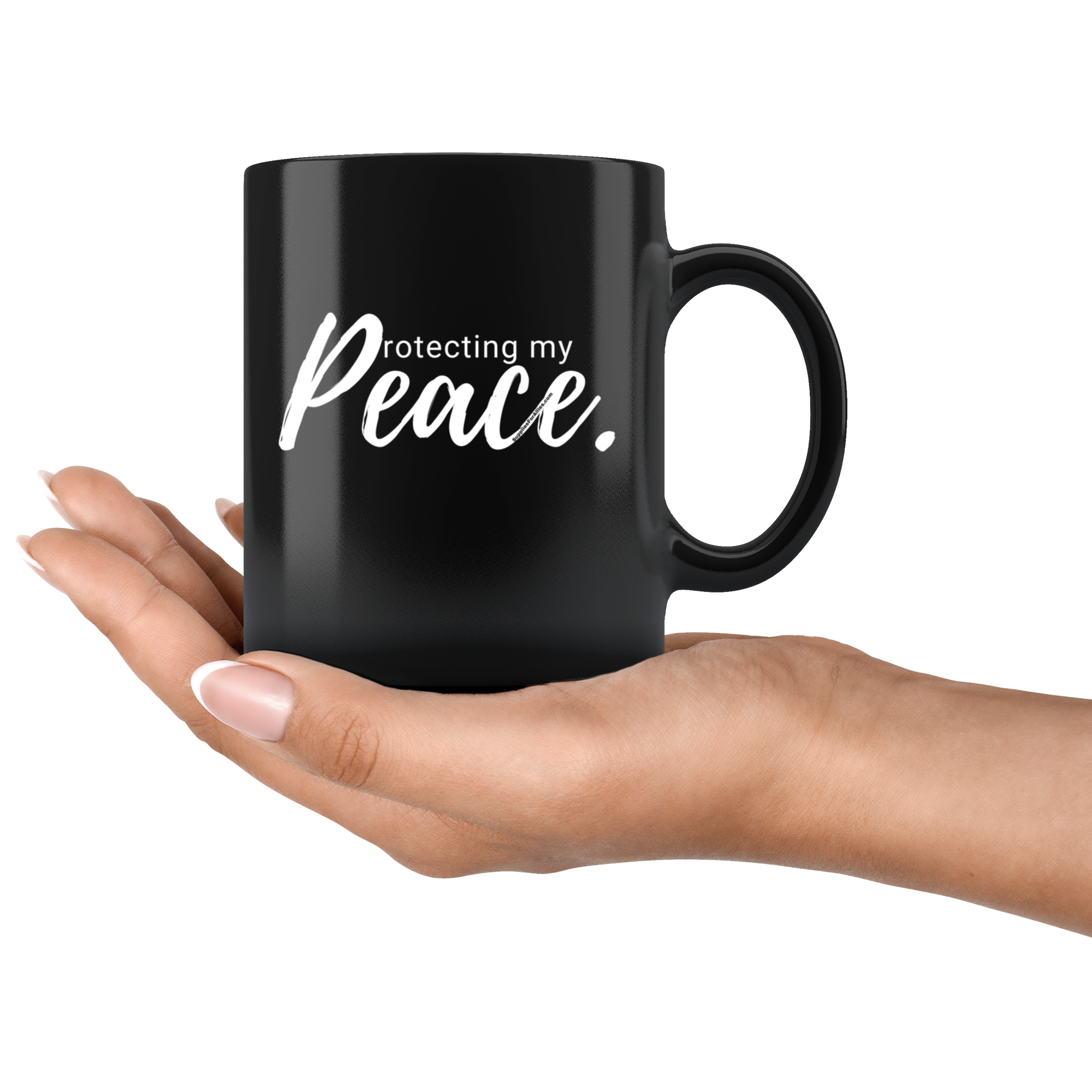 Protecting my Peace Mug - Black