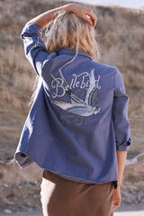 Belle bird chambray jacket
