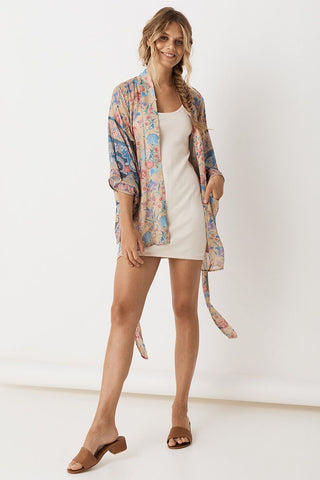 Seashell Short Robe - Opal