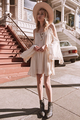 Florence Mini Dress - Creme Brulee
