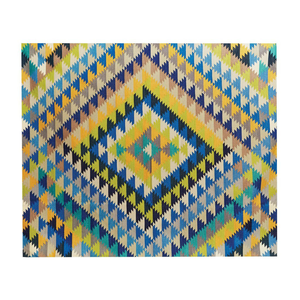 cotton dhurrie - pixel geometric