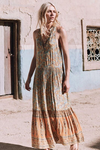 Delirium maxi dress - gold