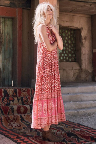 Delirium maxi dress - red coral