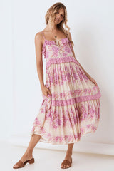 Coco Lei Strappy Gown, Lilac