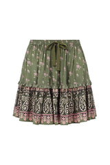 Lionheart Mini Skirt - Olive Grove