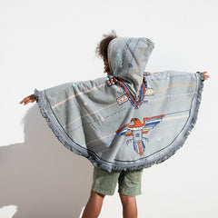 The Eagle Petite Poncho (kid/size) Roundie towel by the beach people