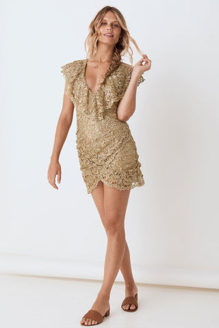 Nina Shift dress, Bronze