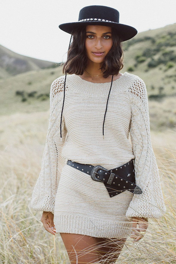 Carmen knit dress, cream