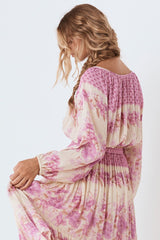 Coco Lei Peasant Top, Lilac