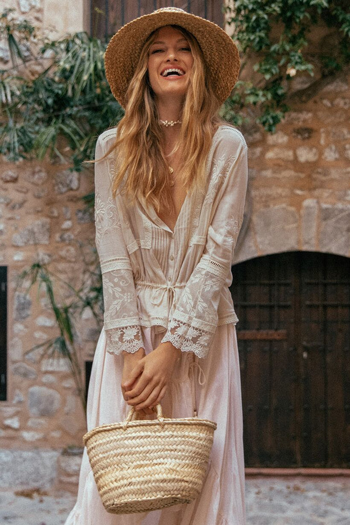 Maggie Embroidered Blouse, Off White