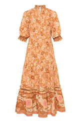 Anne Midi Gown, Peach