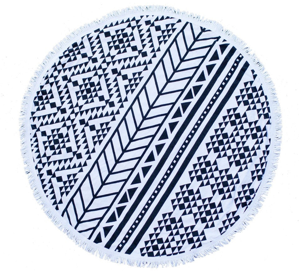 the beach people - the aztec round towel