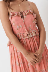 Hendrix Strappy Maxi Dress, Dusty Pink