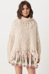 Kimba Knitted Sweater - Almond