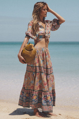 Seashell Maxi Skirt - Opal
