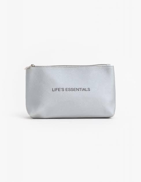 Life's essentials silver toilet/make up bag